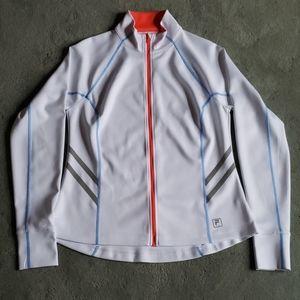 NWT Fila Sport Sz L white jacket